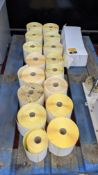 Large quantity of reels of self-adhesive address labels