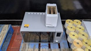 Russell Hobbs microwave plus Argos 2-slice toaster
