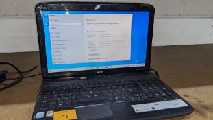 Acer Aspire notebook computer including powerpack/charger