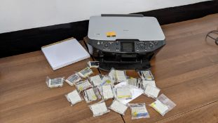 Epson Stylus Photo RX585 plus large quantity of ink cartridges, some of which are Epson branded & ot