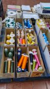 9 cartons of embroidery thread