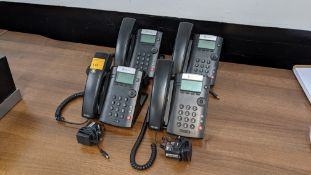 4 off Polycom telephones, each with power supply