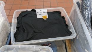 42 off Uneek black T-shirts in assorted sizes - crate excluded