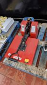 UK Press benchtop transfer press with pressure adjustment & digital display/controller. This lot als