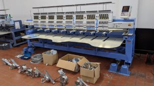 Happy Industrial Corporation model HCG-1508B-45TCC 8-head embroidery machine