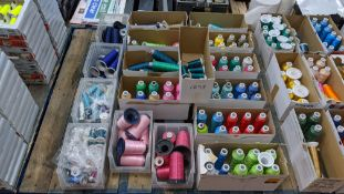 17 assorted cartons & containers of embroidery thread