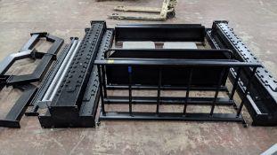 Origin Modular Storage Rig. This storage/racking system comprises 6 heavy-duty columns & a variety o