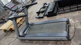"""Impulse RT500H Treadmill, max. incline 15°, wide running surface of 22"""". Low step height 8.5"""". Weigh"""