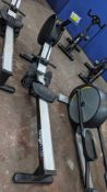 Origin model OR1 Rowing Machine. This machine incorporates a bright LCD display with pre-set workout