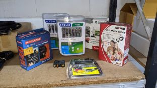Quantity of assorted audio video cables & adapters as pictured - 6 individually boxed items/kits plu
