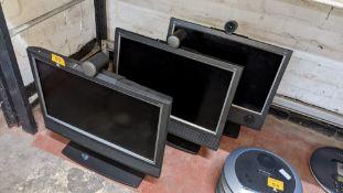 3 off Tandberg 1700 video conferencing monitors