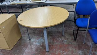 Round office table, 1200mm diameter