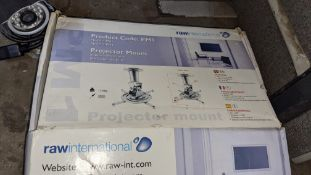 Mixed lot comprising ceiling projector mount & outdoor IP camera