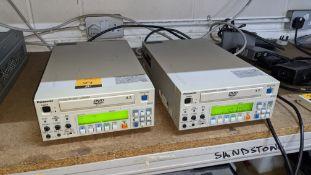 2 off Panasonic DVD video recorders model LQ-MD800