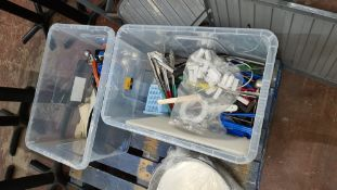 The contents of 2 large crates of assorted utensils & gadgets. NB crates excluded