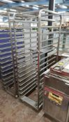 2 off assorted bakers tray racks