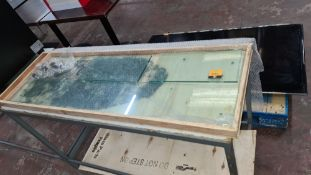 Glass panels, brackets & fixings to make up a counter top display unit