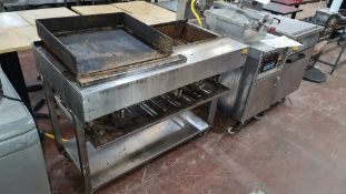 Mobile floor standing multi-control gas barbeque/griddle system circa 680mm wide