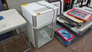 Coolpoint clear fronted fridge model AHT100