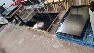 3 off assorted flat panel TVs - no remotes, brackets or other ancillaries
