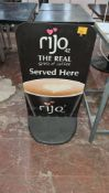 Coffee machine display board with heavy duty base