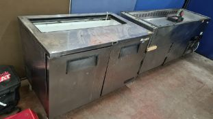 True Refrigeration refrigerated prep cabinet with open top