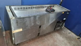 Refrigerated prep cabinet plus small toolbox