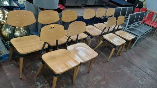 10 off matching metal & wooden chairs