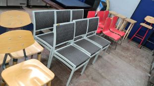 6 off matching rattan chairs