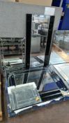 The contents of a pallet of assorted decorative mirrors - 4 mirrors in total