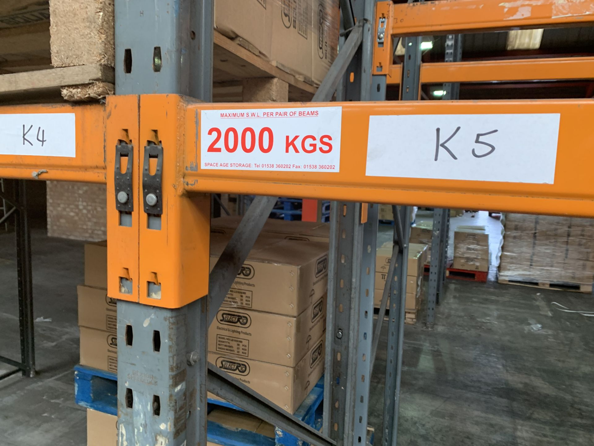 """Large quantity of Dexion Speedlock """"H"""" (Heavy Duty) Pallet Racking - Image 8 of 19"""