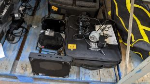 Infrared illuminator system comprising case & variety of items of equipment as pictured