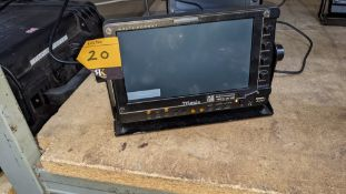 TVLogic multi format LCD monitor model LVM-075A, including hinged bracket & power supply