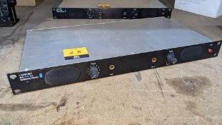 Canford Audio rack mount Stereo monitor, with XLR line inputs on the rear & twin oval mini speakers