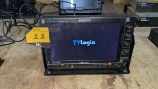 TVLogic multi format LCD monitor model LVM-074W, including hinged bracket & power supply