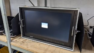 "Lilliput BM280-4KS: 28"" 4K widescreen field monitor with 3D LUTS and HDR, in built-in flight case"