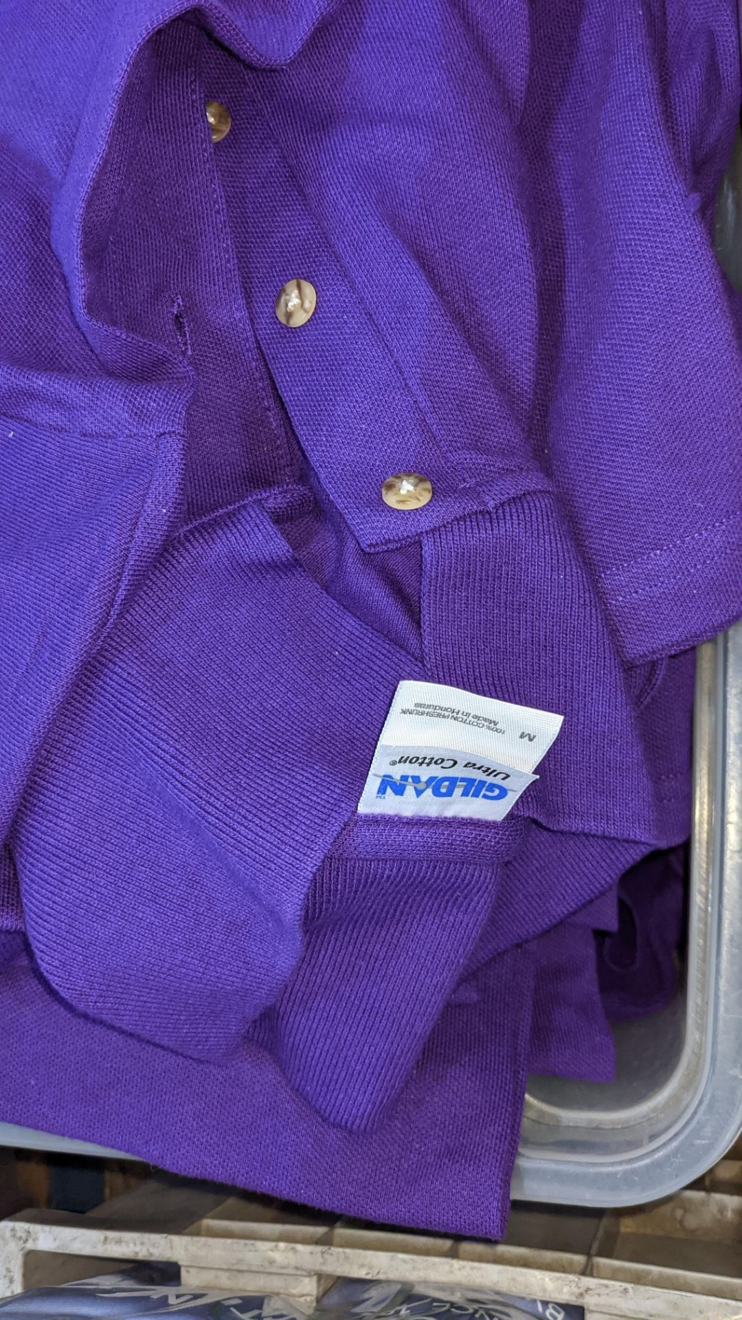 Quantity of Gildan purple polo shirts - the contents of 1 crate. NB crate excluded - Image 5 of 5