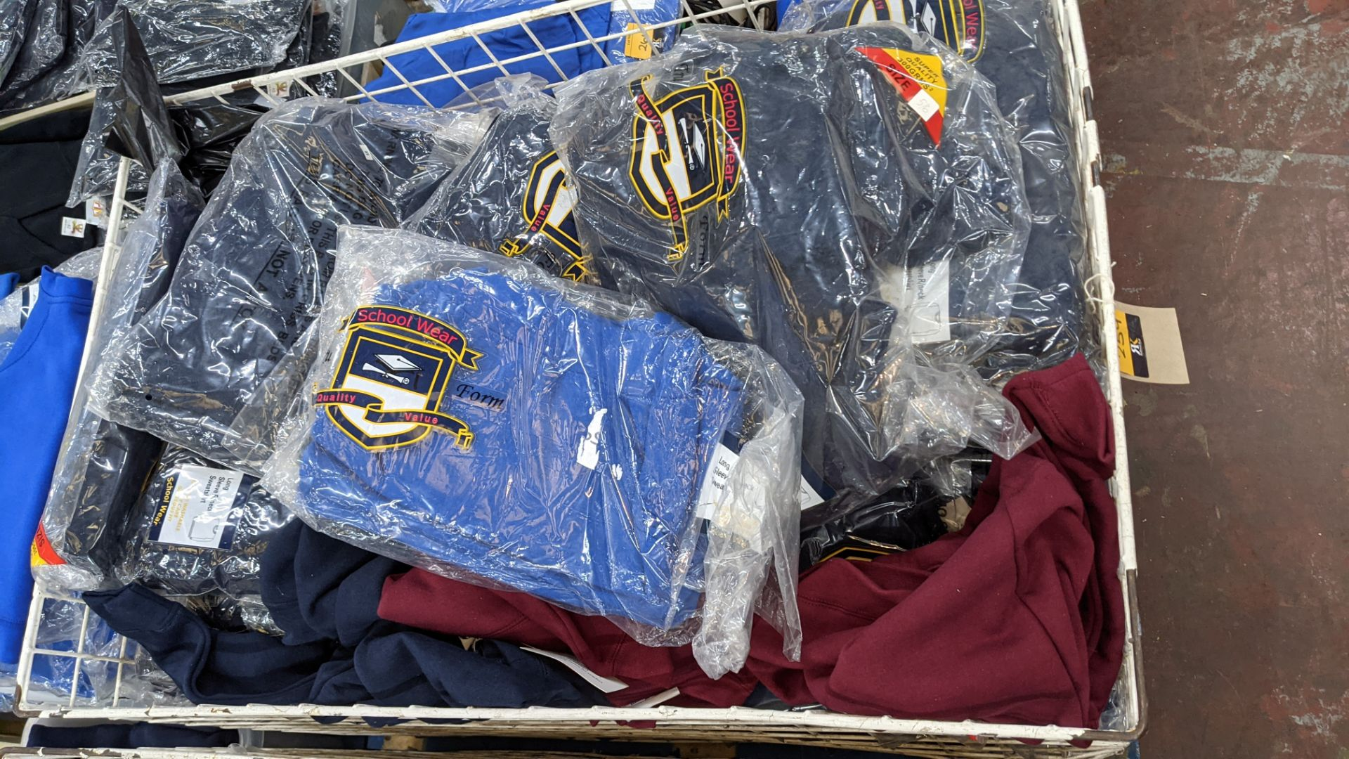 Large quantity of assorted children's sweatshirts - the contents of 1 large cage. NB cage excluded - Image 3 of 7