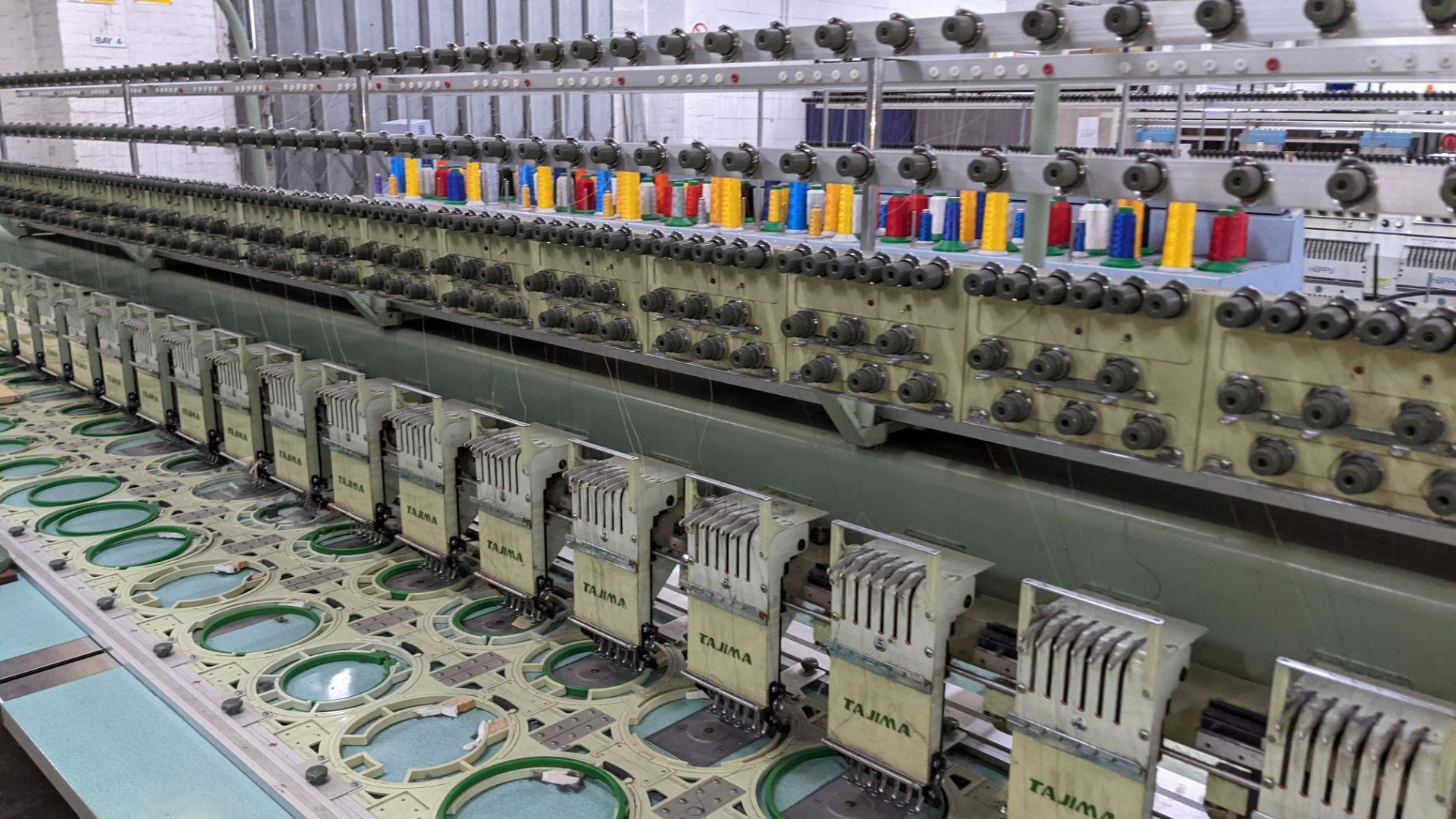 Tokai Tajima electronic 20 head automatic embroidery machine model TMEF-H620 - Image 7 of 25