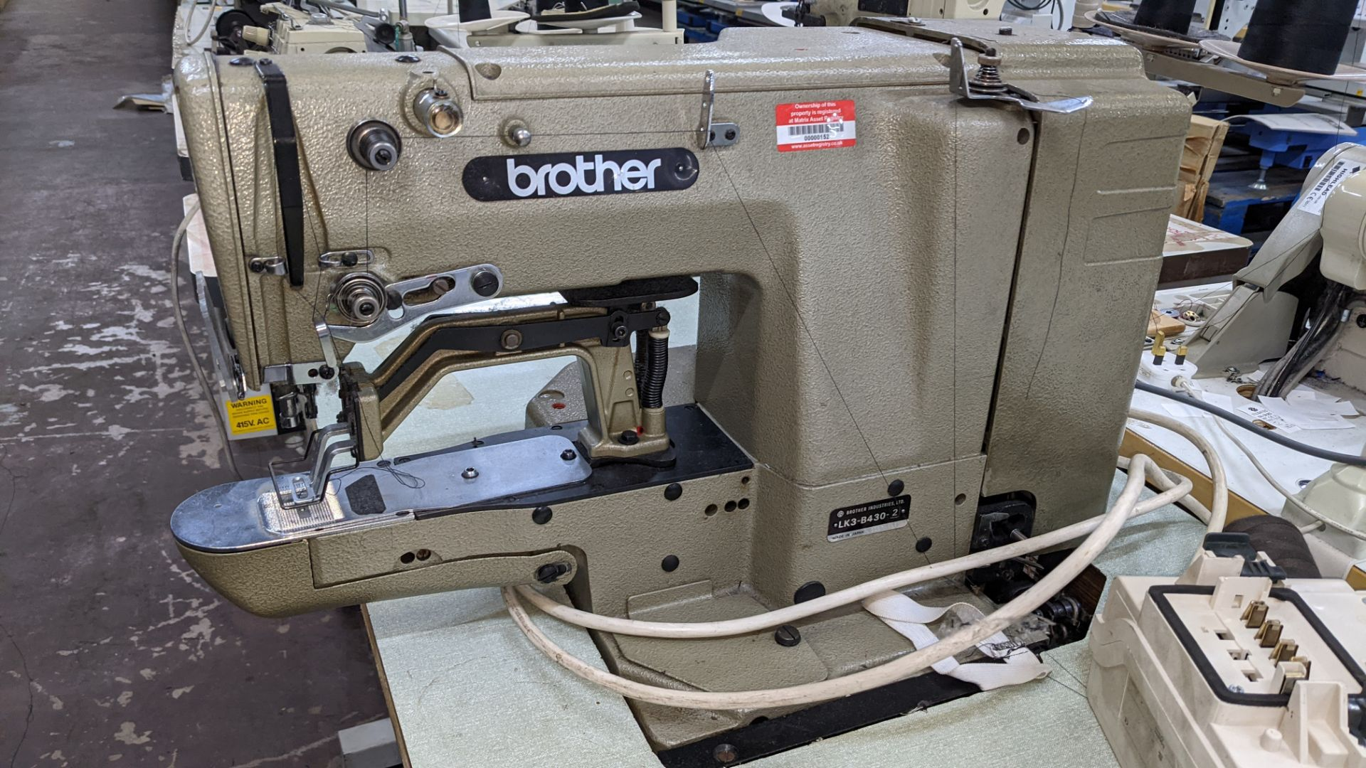 Brother bar tack sewing machine model LK3-B430-2 - Image 7 of 15