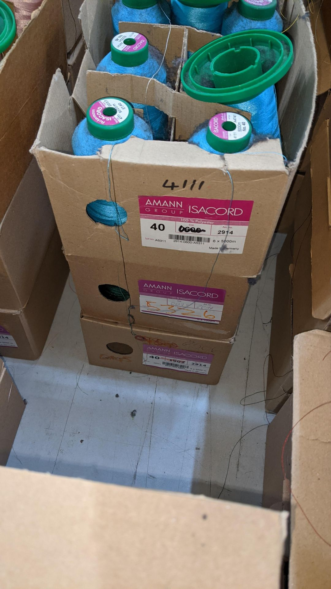12 boxes of Ackermann Isacord (40) polyester thread - Image 6 of 7