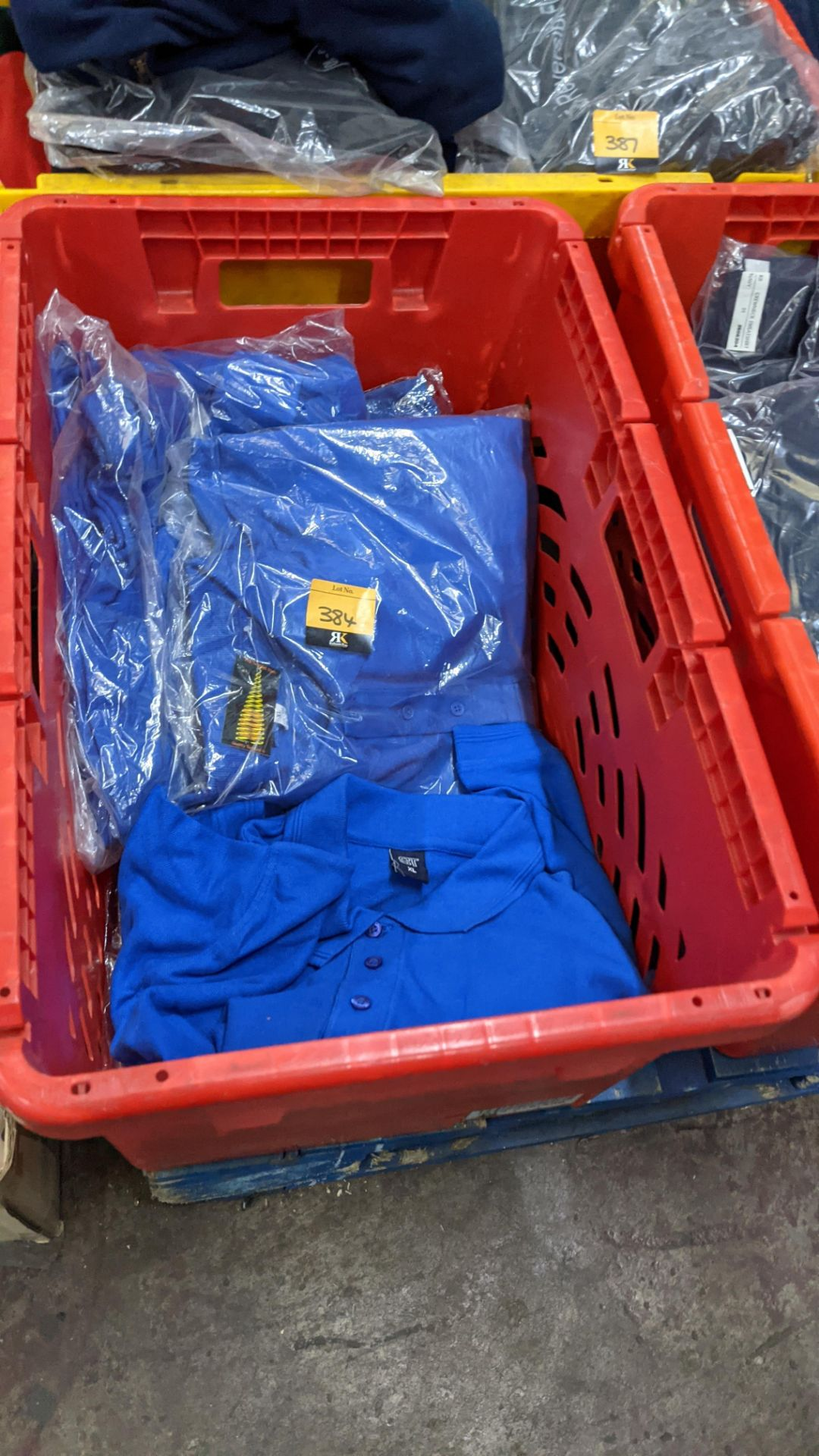 Approx 17 off bright blue polo shirts - Image 2 of 4