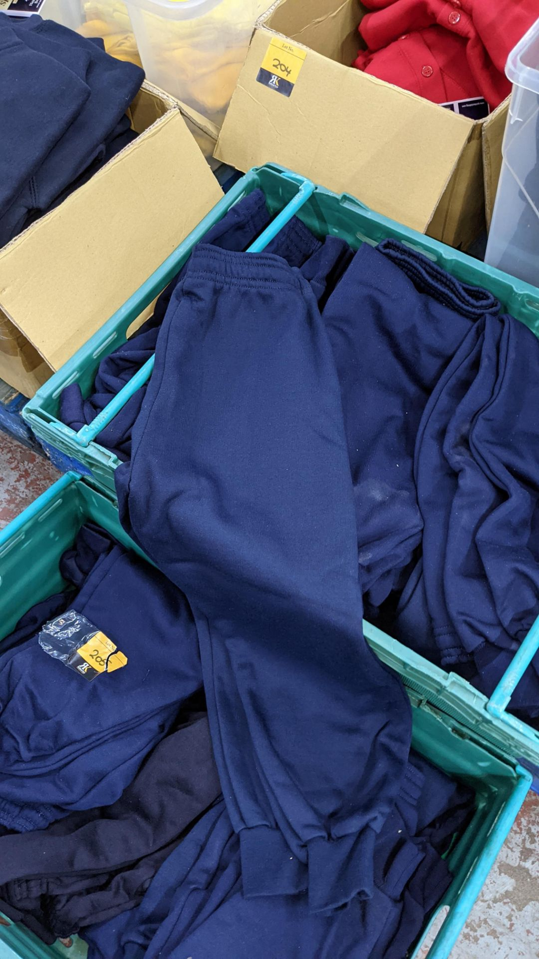 Approx 17 off children's blue tracksuit bottoms in assorted styles - the contents of 2 crates. NB c - Image 5 of 5