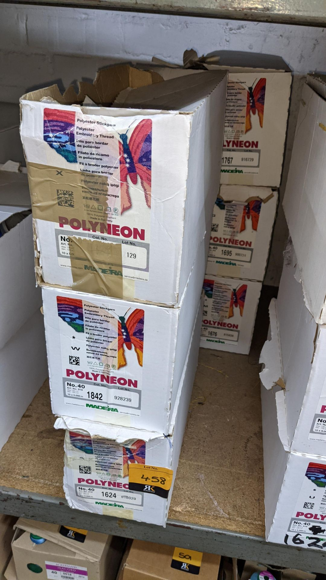 6 boxes of Madeira Polyneon No. 40 polyester embroidery thread - Image 2 of 7