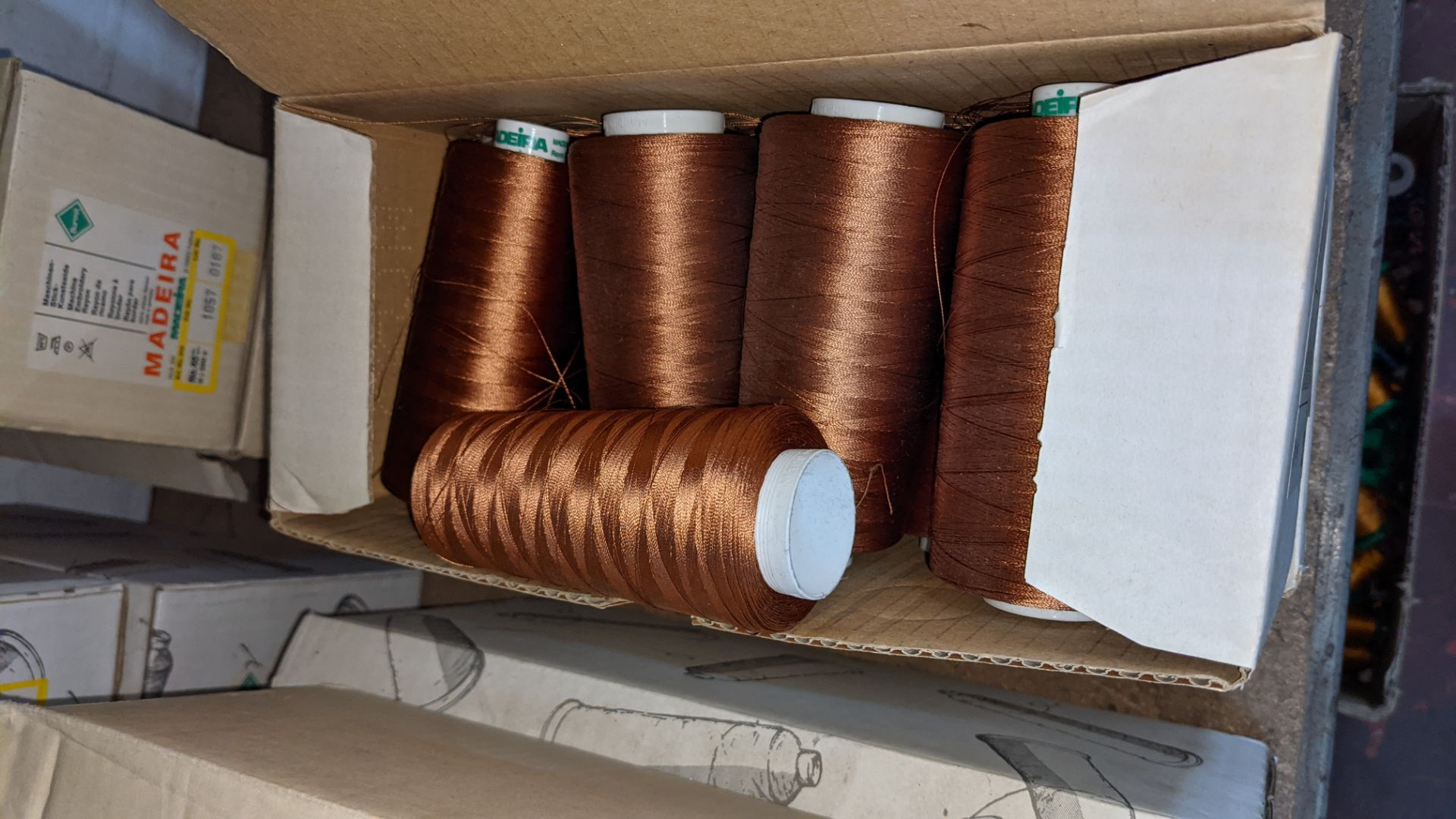 8 boxes of Madeira Burmit No. 40 rayon embroidery thread - Image 6 of 8