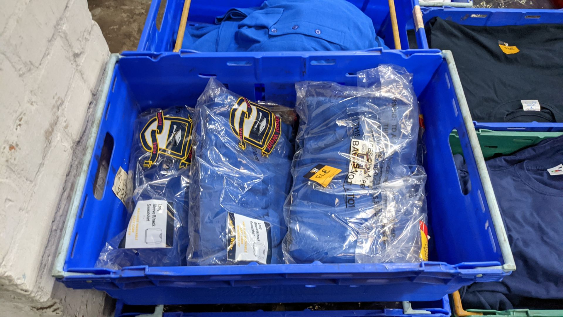 Approx 29 off royal blue children's sweatshirts (2 crates) - Image 2 of 4