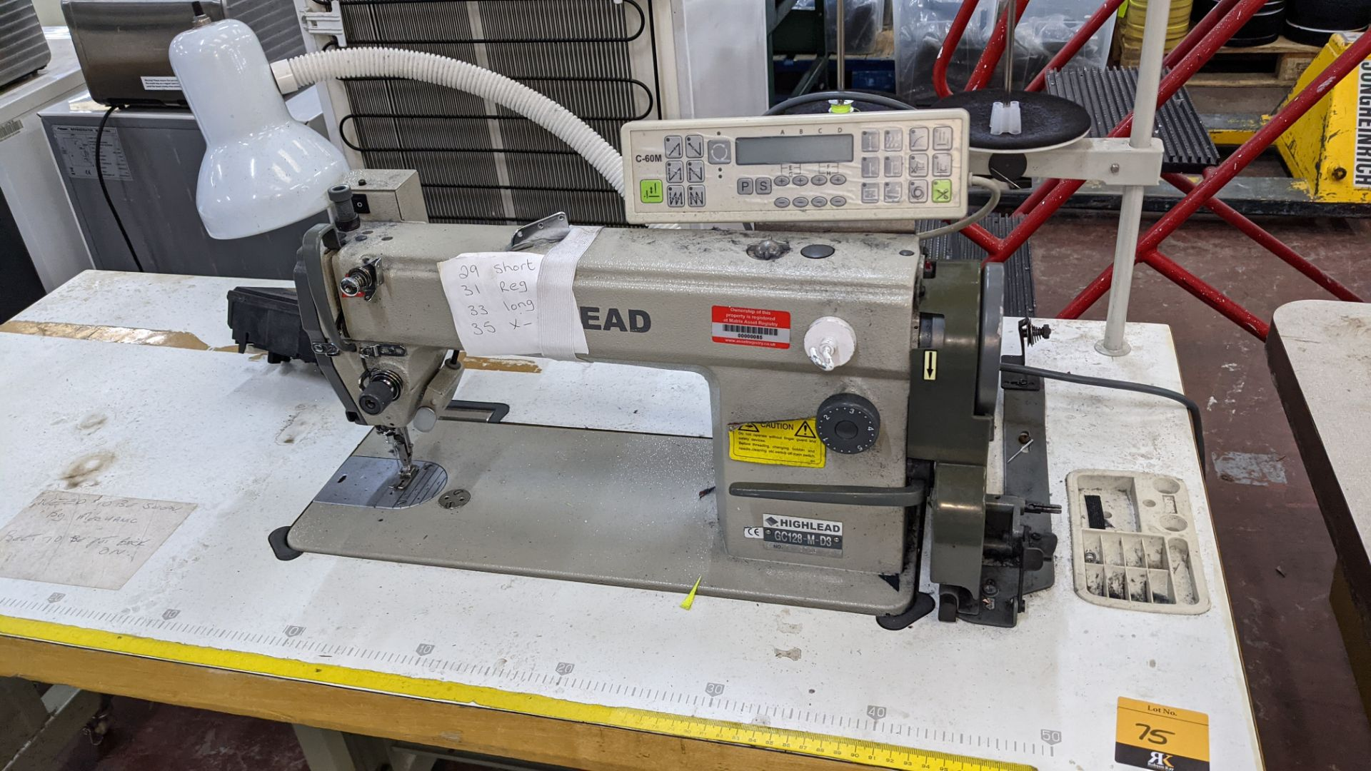 Highlead model GC128-M-D3 sewing machine with model C-60M digital controller - Image 5 of 17