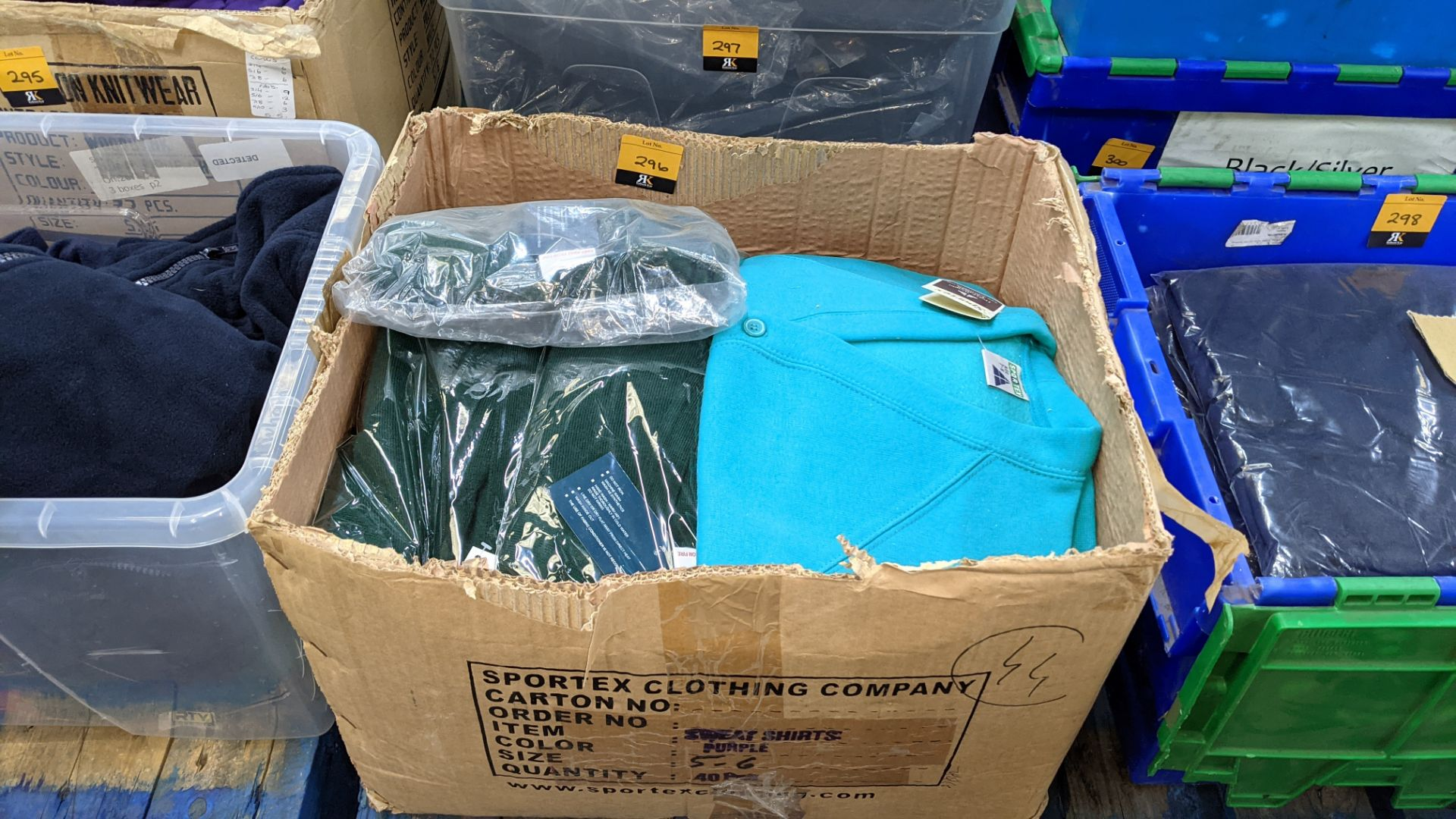 Approx 18 off Rowlinson children's green button up sweat tops - 1 large box