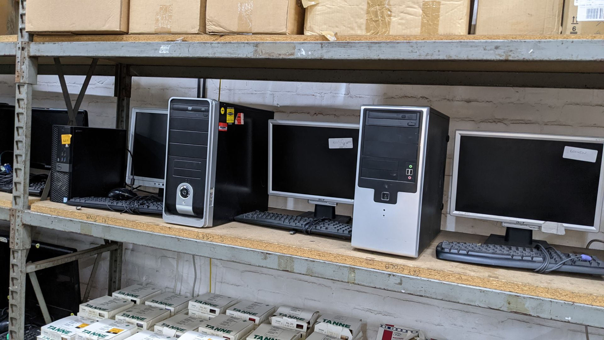 3 off assorted desktop computers each with monitor, keyboard & mouse - Image 6 of 6
