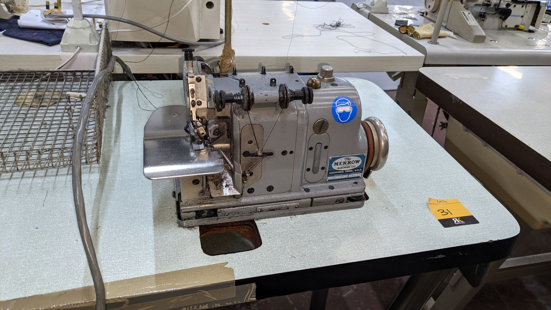 Merrow sewing machine, model M-30 - Image 6 of 14